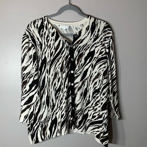 Charter Club Animal Print Top Plus Size